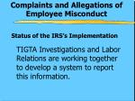 complaints and allegations of employee misconduct1
