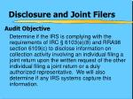 disclosure and joint filers2