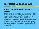 fair debt collection act