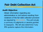 fair debt collection act1