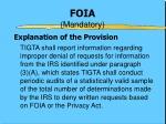 foia mandatory