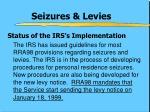seizures levies