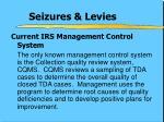 seizures levies1