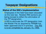 taxpayer designations