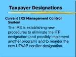 taxpayer designations1
