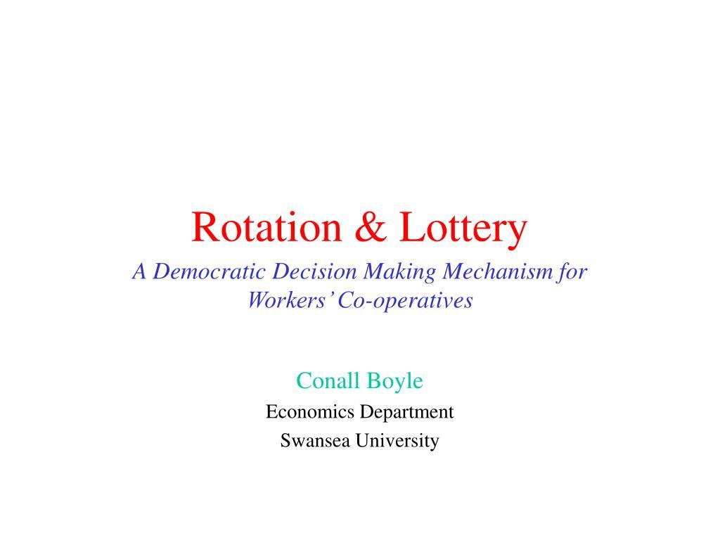 rotation lottery l.