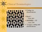 clinical terminologies