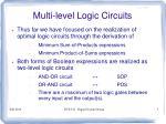 multi level logic circuits