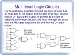 multi level logic circuits13