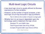 multi level logic circuits4