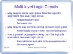 multi level logic circuits5