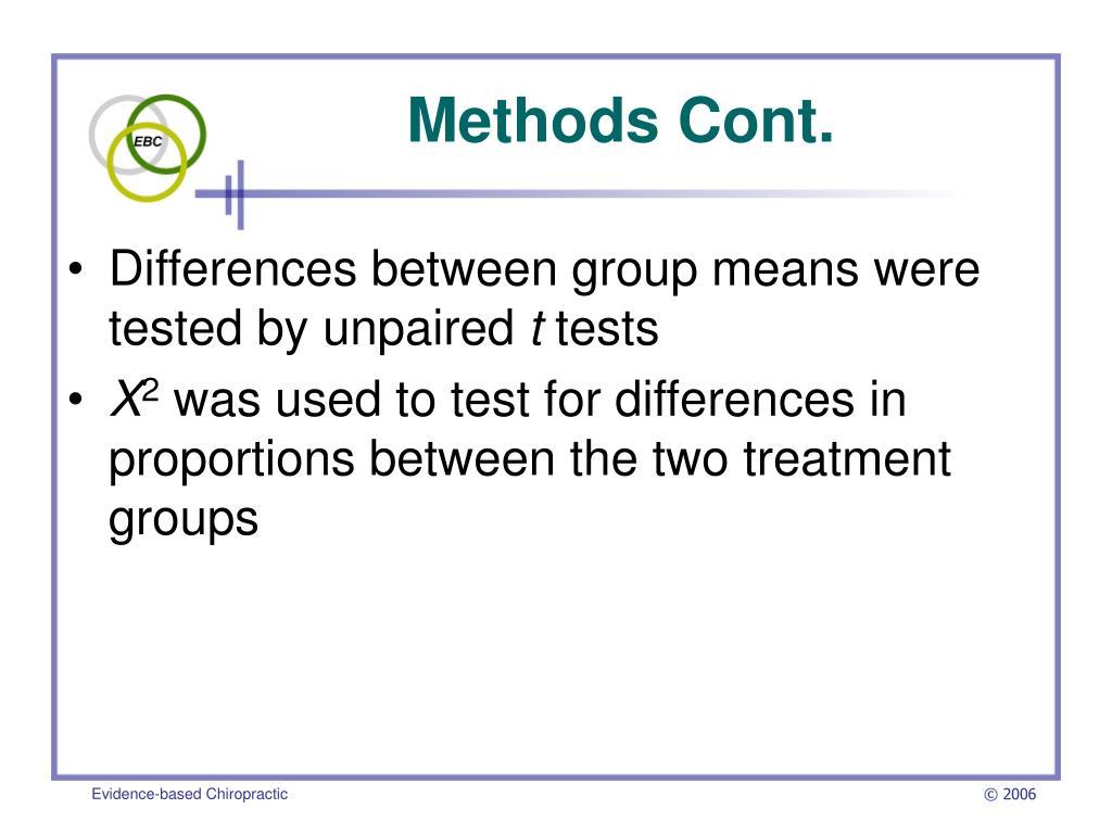 Methods Cont.