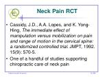 neck pain rct