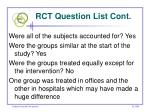 rct question list cont18