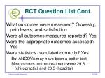 rct question list cont20