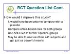 rct question list cont23