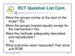 rct question list cont47