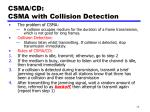 csma cd csma with collision detection