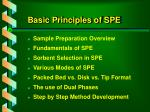 basic principles of spe