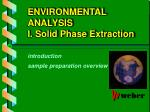 environmental analysis i solid phase extraction