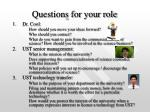 questions for your role