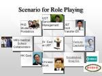 scenario for role playing