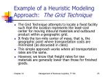 example of a heuristic modeling approach the grid technique