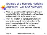 example of a heuristic modeling approach the grid technique26