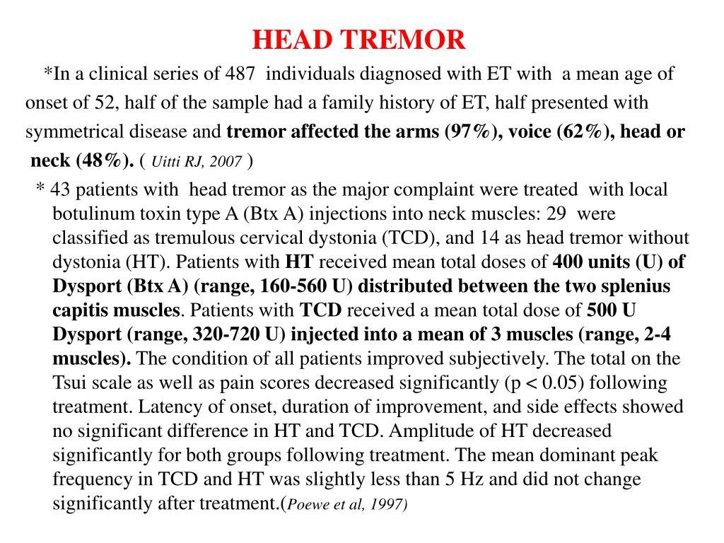HEAD TREMOR