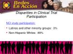 disparities in clinical trial participation