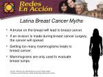 latina breast cancer myths
