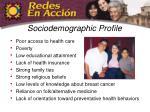 sociodemographic profile