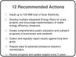 12 recommended actions8