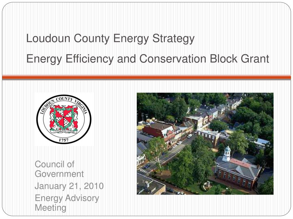 loudoun county energy strategy energy efficiency and conservation block grant l.