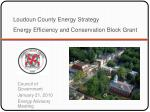 loudoun county energy strategy energy efficiency and conservation block grant