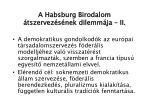 a habsburg birodalom tszervez s nek dilemm ja ii