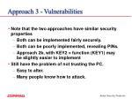 approach 3 vulnerabilities