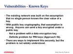 vulnerabilities known keys