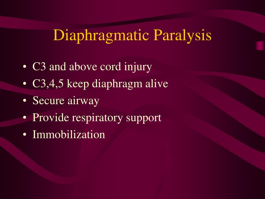 Diaphragmatic Paralysis