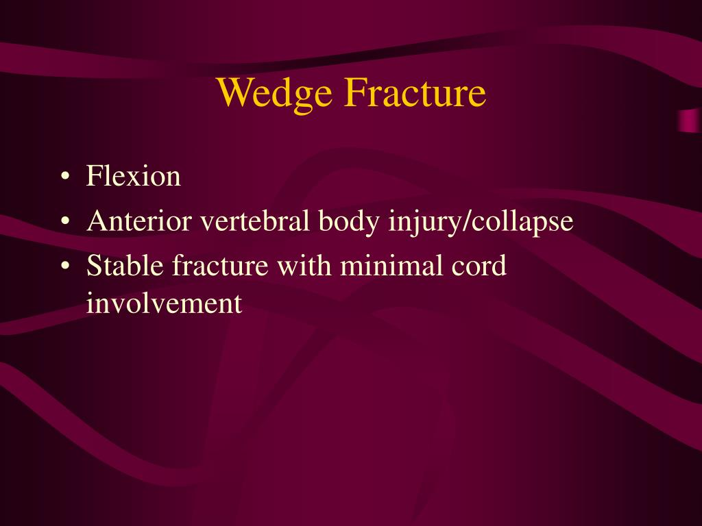 Wedge Fracture