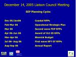 december 14 2005 liaison council meeting