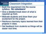 classroom integration