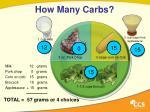 how many carbs