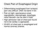 chest pain of esophageal origin