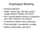 esophageal bleeding