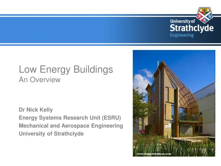 low energy buildings an overview n.