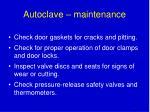 autoclave maintenance