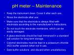 ph meter maintenance