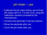 ph meter use