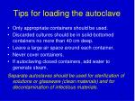 tips for loading the autoclave